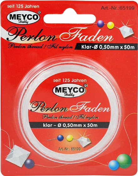 Perlon Thread - 0.50mm x 50m (Item No: 65199)